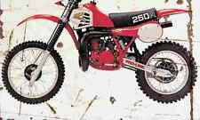 Honda CR250R 1981 Aged Vintage SIGN A4 Retro