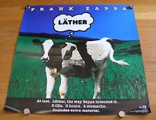 "Frank Zappa 1996 Lather Ryko In-Store Promotional  24"" x 24"" Poster"