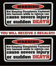 2 Warning Sudden Death Decal stickers  Jeep Wrangler Cherokee Rubicon Liberty