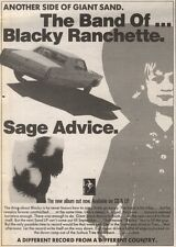 19/5/90Pgn34 Advert: The Band Of ..blacky Ranchette Album sage Advice 7x5