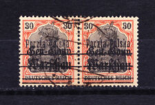 (PL) Poland Polen Polska Fi 14 B7 error in pair used expertised by Berbeka