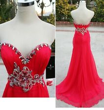 NWT ALYCE PARIS 6062 Watermelon $358 Formal Prom Gown 8