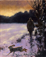 Mick Cawston Lurcher Christmas cards pack of 10.C185x