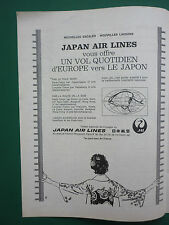 4/1965 PUB COMPAGNIE JAL JAPAN AIR LINES JAPON TOKYO ORIGINAL AVIATION AD