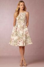 BHLDN Anthropologie $300 Gardenia Embroidered Floral Lace Dress  - Size 12