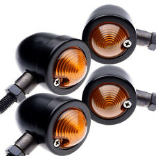 4 X Bullet Metal Motorcycle Turn Signals Indicator Light