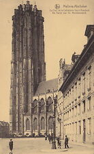 MALINES, Belgium - Early Cathedral View - People, Children, -(F688)