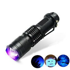 1* UV Ultra Violet LED Flashlight Blacklight Light nM Inspection Lamp  New