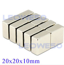 5 X Square Block Magnet 20mm x 20mm x 10mm Rare Earth Neodymium No. 1718
