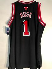 Adidas Swingman NBA Jersey CHICAGO  Bulls Derrick Rose Black sz 3X