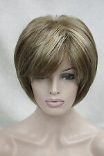 new charming light brown with blonde highlight women's short straight wig