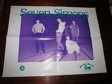 SEVEN SIMONS 25 X 19 PROMOTIONAL POSTER  DOG GONE RECORDS DW PRASSE
