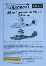 Xtradecal 1/48 X48174 Supermarine Walrus Decal set