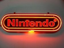 New Nintendo RED Display Logo Real Neon Sign Beer Bar Light FREE FAST SHIPPING
