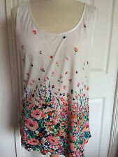 New With Tags Oasis Floral Vest Top Size Large
