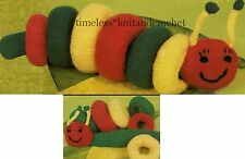 VINTAGE KNITTING PATTERN FOR HAPPY CATERPILLAR PLAY & LEARN BABY TOY