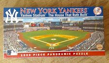 New York Yankees Stadium Panoramic 1000 Piece Puzzle House That Ruth Built New