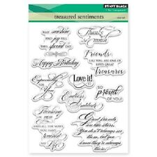PENNY BLACK RUBBER STAMPS CLEAR TREASURED SENTIMENTS STAMP SET