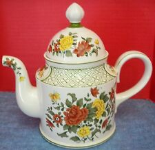 Villeroy & Boch Summerday Coffee Pot & Lid Rust Yellow Green Summer Day Germany