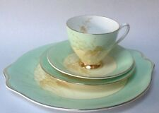 Tea cup saucer tea plate trio and bread butter cake plate  English Vintage China