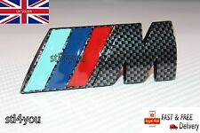 M Power Carbon Fibre Effect Tech Rear Boot Trunk Badge Emblem Sticker Sport