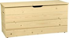 Cassapanca in legno di pino grezzo 0102S L73h33p35cm