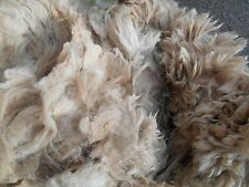300g Fine Raw Light Brown / Fawn Alpaca Fleece Spinning Felting 'Chelsea'