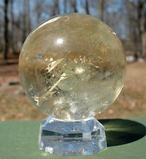 Citrine Sphere / Crystal Ball with Rainbow