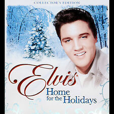 Music CD ELVIS HOME FOR THE HOLIDAYS Collector's Edition + Bonus Guitar Candle