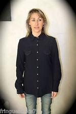 chemise laine viscose marine MARITHE FRANCOIS GIRBAUD T XS NEUVE ÉTIQUETTE  200€