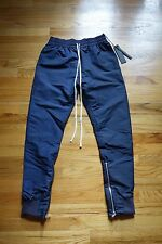 KITH X Fear of God Track Pant Navy Fourth Collection Sz M FOG Indigo Jeans White