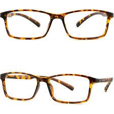 Thin Light Men's Women's Frame Wide TR90 Memory Plastic RX Glasses Tortoiseshell