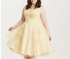 New Torrid Plus Size Disney Beauty and the Beast Belle Ball Gown Dress Size 18