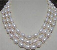 """7-9MM WHITE Freshwater PEARL NECKLACE 54"""" AAA"""
