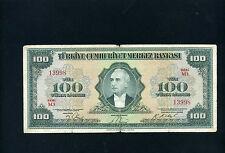 Turkey 100 lira lirasi 1947 - ABNC - F