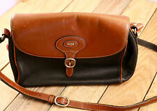 Vintage Bally Black & Brown Leather Purse Handbag