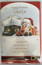 Tío Feliz Navidad-Tarjeta de Navidad Oso de Santa Botas presenta