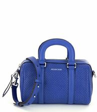 Michael Kors Libby Perforated Leather Small Satchel (Electric Blue)
