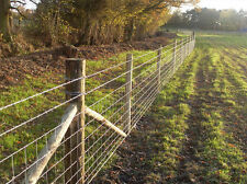 "100m STOCK FENCING (C8/80/15. 5' 6"" POSTS, BARB WIRE AND STAPLES) SHEEP/PIG/COW"