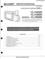 Sharp Original Service Manual für Hi 8 Camcorder VL-H 450S-460H-900E