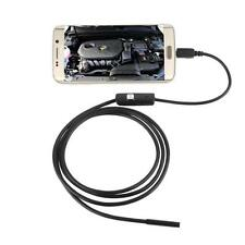 6 LED Impermeabile 2M 7mm Lente Endoscopio Inspection Videocamera Per Android
