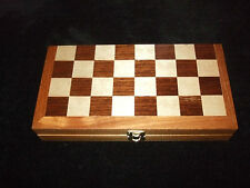 CHESS SET-VINTAGE WOODEN TRAVEL CHESS SET  FAMILY BOARD GAME