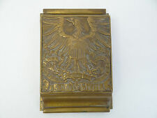 Antique Old Bronze P.O.D. Post Office US Mail Chute Cutler Manufacturing Slot