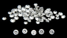 *Hot Deals* 10 Pic  1.0mm  White Round Loose Diamond