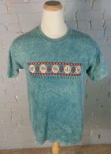 Vintage 90s Colorado Tie Dye  Hippie T Shirt L Ranch Hiking Mountain Moose