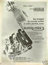 Publicité advertising 1972 La Camera Eumig Mini 3 Zoom Reflex