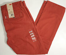 Levi's CHINO Herringbone Pants-34 x30-NEW-RED Levis jeans trousers-$68-RED-508-