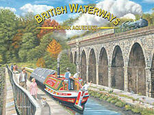British Waterways Chirk Aquaduct, Canal Barge Steam Train, Medium Metal/Tin Sign