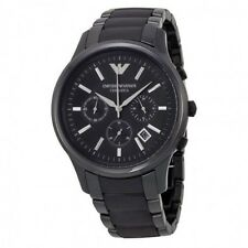 BRAND NEW MENS BLACK CERAMIC CHRONOGRAPH WATCH EMPORIO ARMANI AR1452