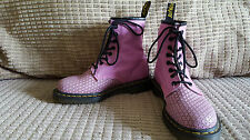 rare Dr. MARTENS size 4 PINK leather 1460 festival hippy